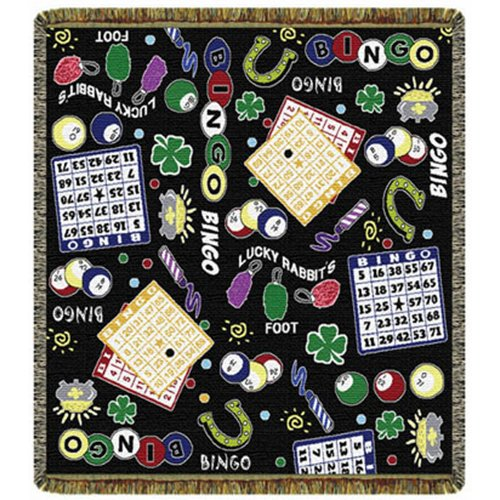 Bingo Collage 60'' Tapestry Throw
