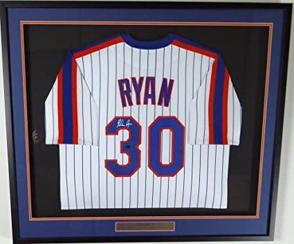 3a22fc55c New York Mets Nolan Ryan Autographed Framed Majestic White Jersey NR ...