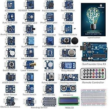SunFounder Ultimate UNO R3 Sensor Kit V2.0 for Arduino UNO R3 Mega2560 Mega328 Nano - Including 98 Page Instructions Book: Amazon.es: Juguetes y juegos