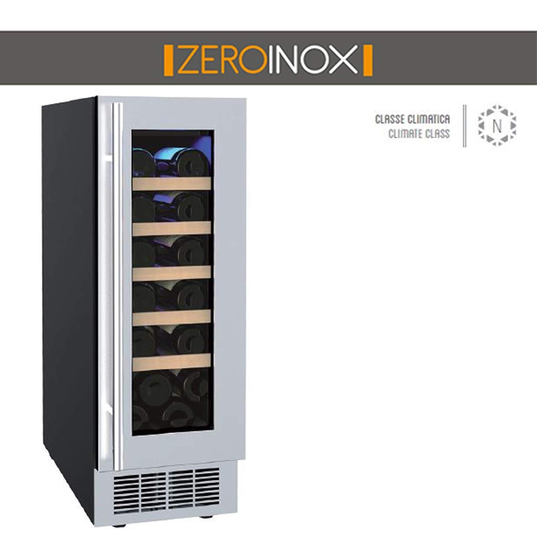 ZeroInox - Nevera de Vino ventilado de 58 litros con estantes de ...