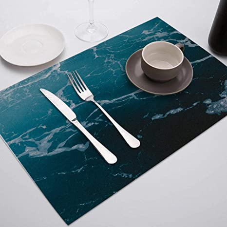 Placemat 1pc Placemat For Dining Table Tableware Durable Dinner Table Mats Novel Marble Printed Drink Coasters Cup Mat Table Decoration Accessories Home Kitchen