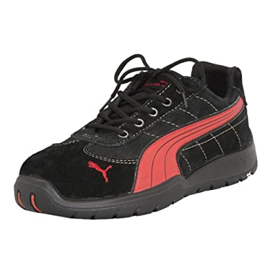 PUMA Safety Men's Silverstone SD Black/Red Sneaker ...