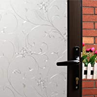 Mikomer Privacy Window Film Little Flowers Static Cling Glass Door Film, Non Adhesive...