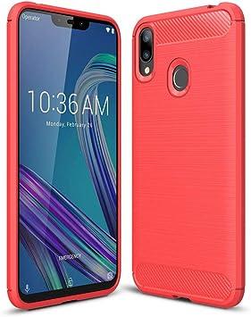 XunEda Funda ASUS Zenfone MAX (M2) ZB633KL, Ultra Ligero Caso Silicona TPU Antideslizante Protectora Case Cover para ASUS Zenfone MAX (M2) ZB633KL Smartphone(Rojo): Amazon.es: Electrónica