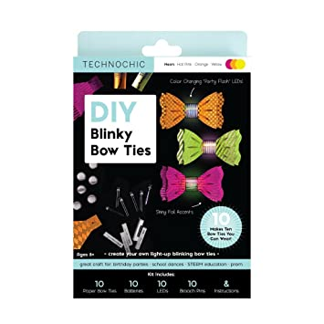 739621d1e107 Image Unavailable. Image not available for. Color  DIY Blinky Bow Ties Kit  ...