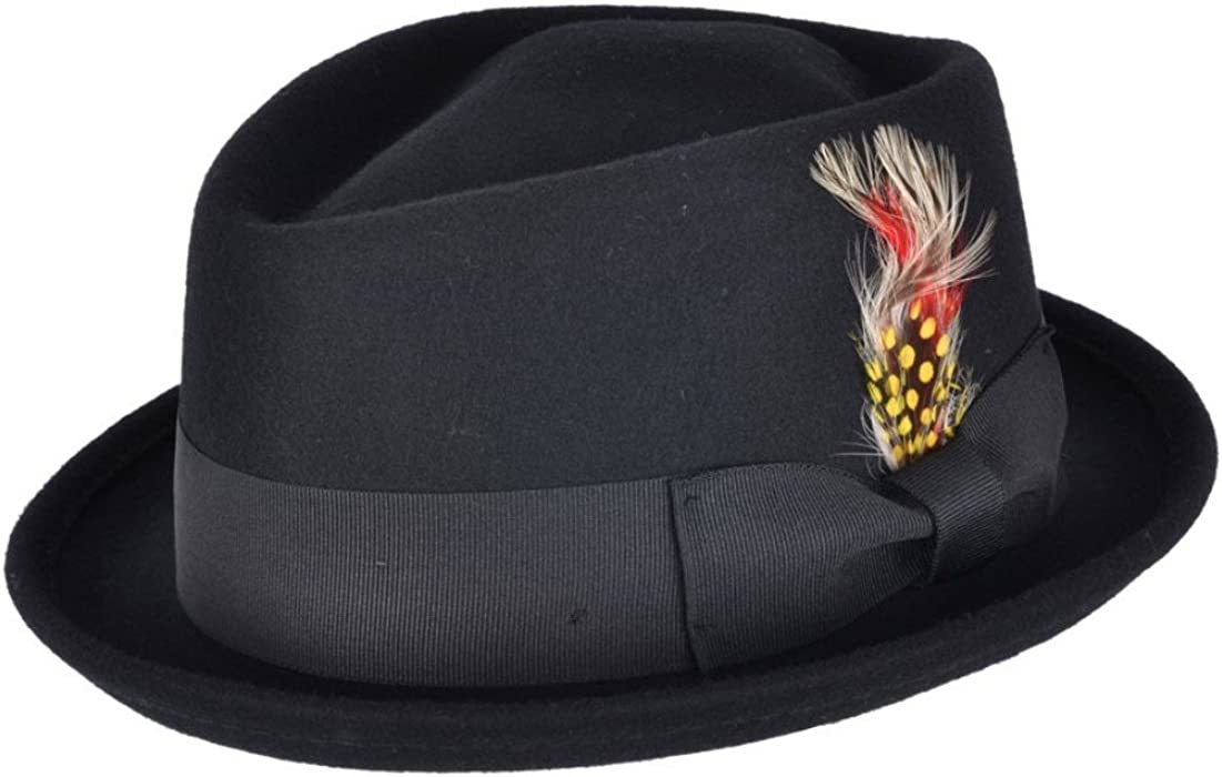 Cotswold Country Hats - Sombrero Pork Pie - para Hombre Negro Negro ... 6140154ad9f