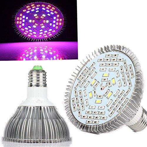 eSavebulbs 50W Full Spectrum Led Grow Light Bulb E27 Base for indoor Plants Vegetables Flower Hydroponic System Grow Tent