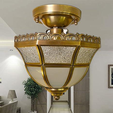 Europeo de soldadura todo-cobre todas las luces del pasillo de cobre luces de techo