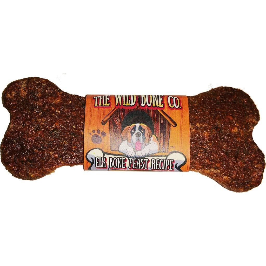 Elk Bone Feast Recipe Jerky Style Dog Treats 1 oz. Elk Flavor 48 Pieces