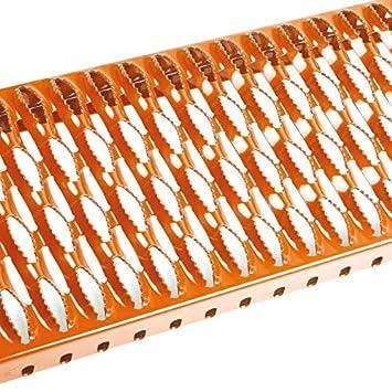 Laufrost 0,6-1,5 Meter Dachtritt Steigtritt Kaminpodest Laufrost verschiedene Groesse verf/ügbar Verzinkt 1,5M