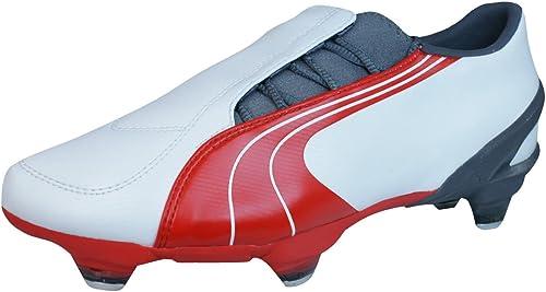 Puma V3.06 SG Mens Football Boots Soccer Shoes Soft Ground Grass Blades White