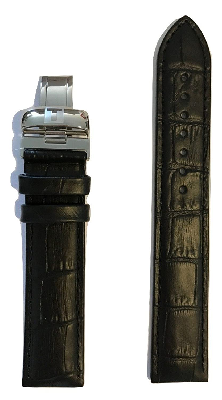 Tissot PRC 200 19 Mmブラックレザーバンドストラップfor t055417 aまたはt055410 a  B01MR92UDB