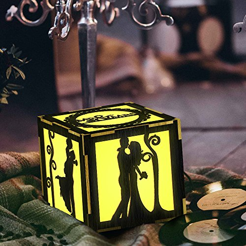 The Geeky Days Mr Mrs Wedding Gift LED Lantern for Bride Love Forever Bedroom Home Decor Lamp Unique Gift Personality LED Light Box Sweetheart Lovers Gift Idea