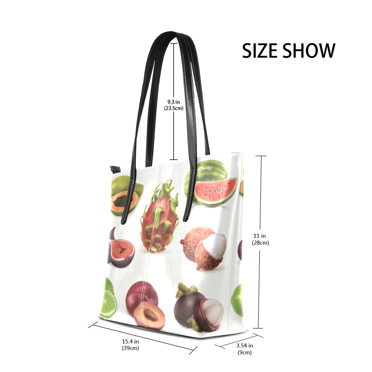 Womens Leather Handbags Delicate Fruit Top Handle Shoulder Bags