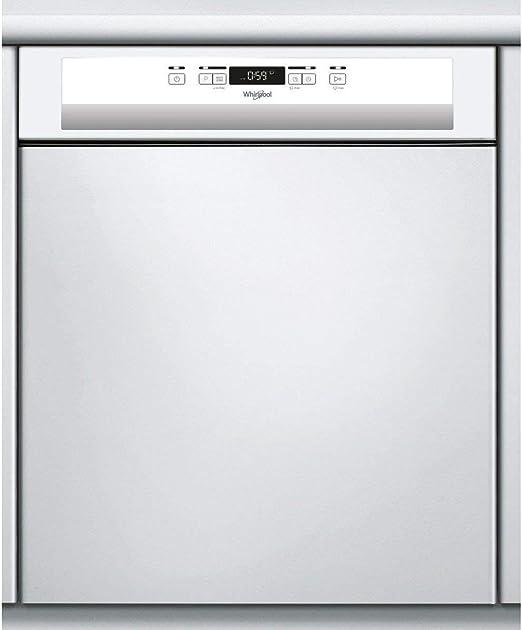 Lave Vaisselle Encastrable 60 Cm Whirlpool Wbc3c26 Lave Vaisselle Integrable Bandeau Blanc Classe Energetique A Affichage Temps Restant Depart Differe Amazon Fr Gros Electromenager
