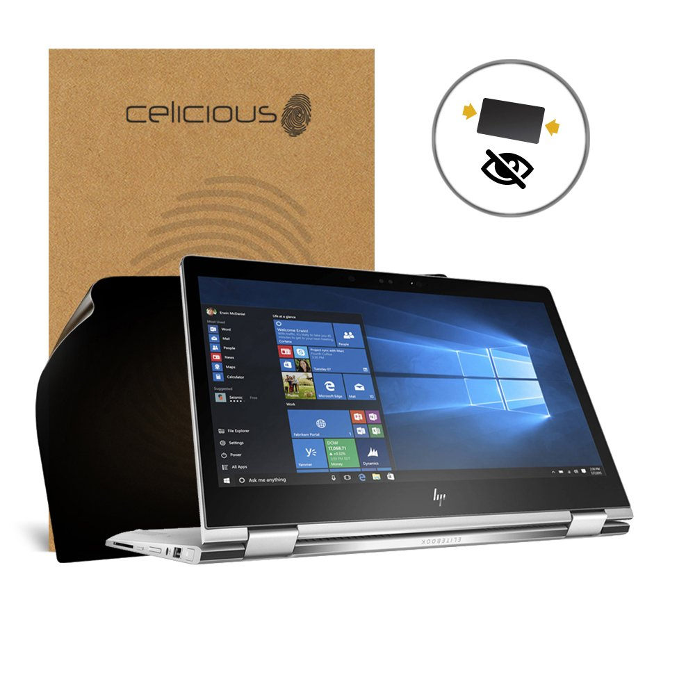 Celicious Privacy 2-Way Anti-Spy Filter Screen Protector Film Compatible with HP EliteBook x360 1030 G2 (Touch)