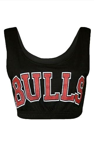 Oromiss - Top mini para mujer de los Chicago Bulls para entrenamiento de baloncesto