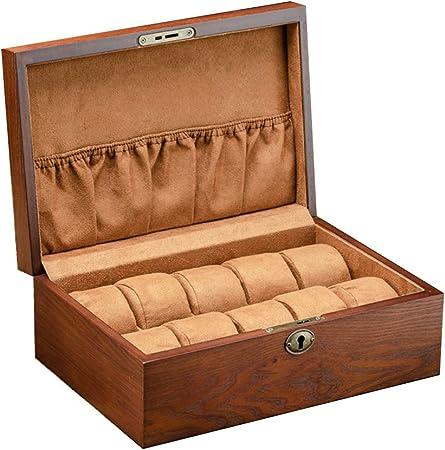 Cajas para Relojes de Madera con 10 Compartimentos Estuche para Relojes y joyeros Joyas Soporte de Exhibición Organizador Accesorios para Hombre Mujer: Amazon.es: Hogar