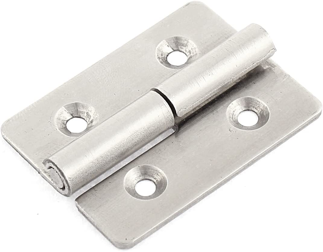 Uxcell Window Cabinet Drawer Door Hinges Hardware Silver Tone 1.7