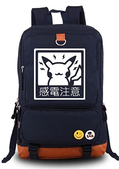 yoyoshome® Anime Pokemon Pikachu Cosplay luminoso mochila mochila mochila mochila escolar (azul)