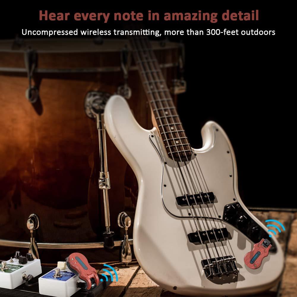 ammoon Receptor Transmisor de Guitarra Sistema de Guitarra Inalámbrico (5.8G): Amazon.es: Instrumentos musicales