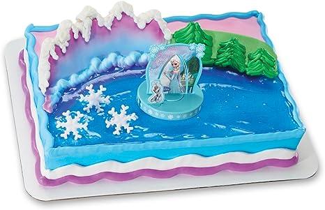 Amazon.com: DecoPac Frozen Anna y Elsa DecoSet decoración ...