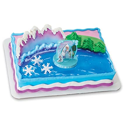 Amazoncom DecoPac Frozen Anna and Elsa DecoSet Cake Topper Toys