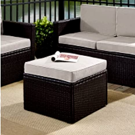 Sensational Amazon Com Oversized Square Cocktail Ottoman Small Grey Gmtry Best Dining Table And Chair Ideas Images Gmtryco