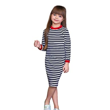 77d8cf7e9295 Amazon.com  Vicbovo Clearance Sale Girls Dresses Casual Kids Toddler ...