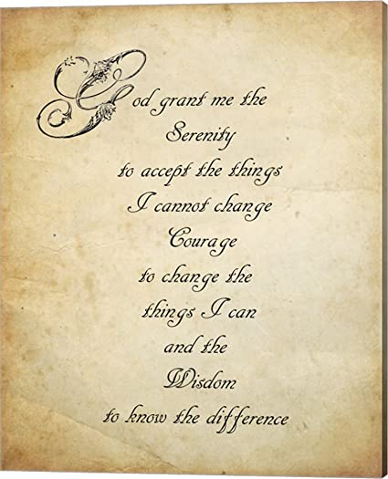 Amazon Serenity Prayer Quote Canvas Art Wall Picture Gallery Interesting Prayer Quote
