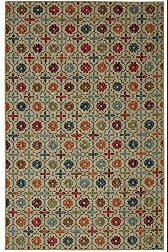 5 Piece Natural Finish Tile (Mohawk Home Soho Nadine Celine Tile Area Rug, 5' x 7', Multicolor)