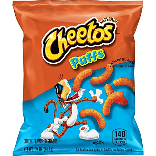 Cheetos Puffs Cheese Flavored Snacks, 0.875 Ounce (Pack of 40)
