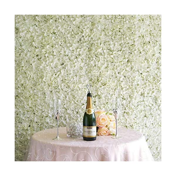 Efavormart 4 PCS Cream Silk Hydrangea Flower Mat Wall Wedding Event Decor for DIY Centerpieces Arrangements Party Decorations