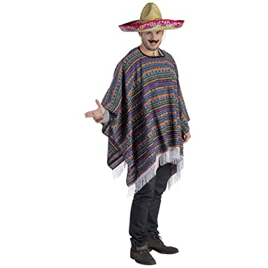 Amazon.com: Adult Mexican Poncho Costume - One Size Fits ...