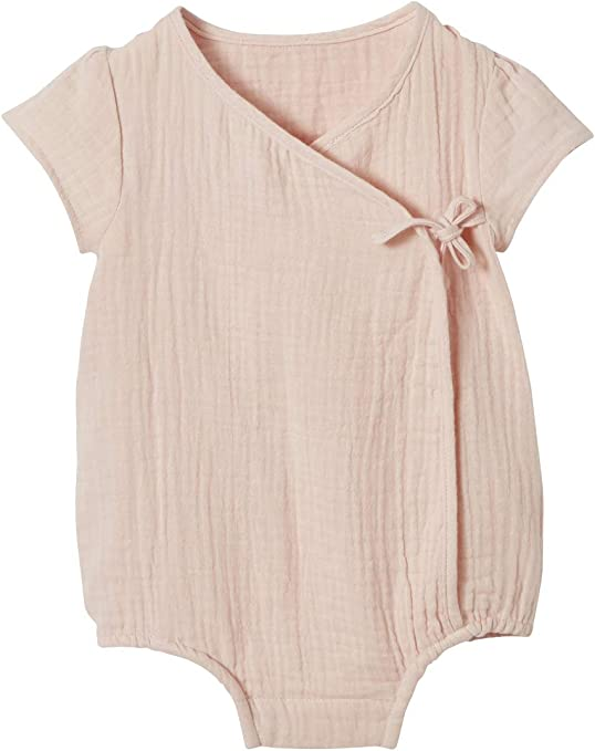VERTBAUDET Body para bebé personalizable de gasa de algodón ROSA ...