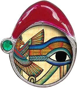 Egipcio Ojo de Horus Esmeralda Verde de cristal May piedra
