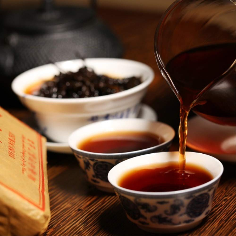 Yan Hou Tang 10 Years Aged Organic Chinese Yunan Puerh Tea Black Lump Tuo Cha Ripe Fermented 100 Gram - Non-GMO Detox Weight Loss US FDA SGS Verified