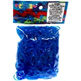 Official Rainbow Loom 600 Blue Ocean Jelly Refill Bands w/ C Clips