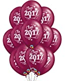 """Class of 2017 Graduation 11"""" Burgundy Latex Balloons - Pack of 12"""