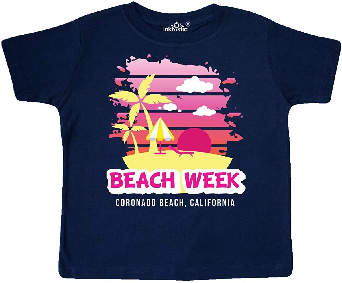 inktastic Beach Week Coronado Beach California with Palm Trees Toddler T-Shirt
