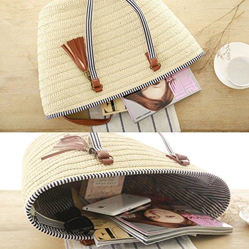 ec1b5f7668b2 Soonyean Summer Straw Beach Bag Handbags Shoulder Bag - Import It All
