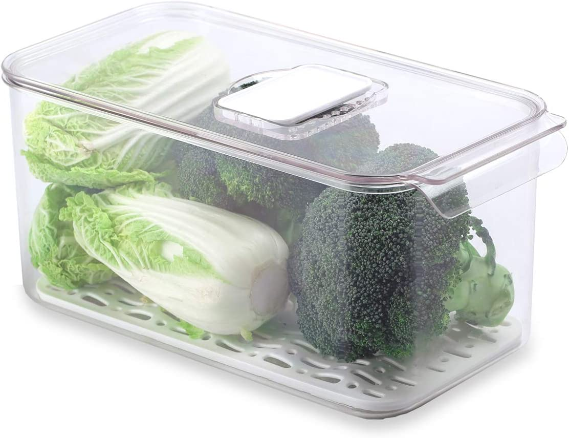 AJY Food Keeper Containers, Keeping Fruits and Vegetables Fresh Longer, Organizing Fridge and Pantry, Free BPA, for Home, Kitchen (12.76