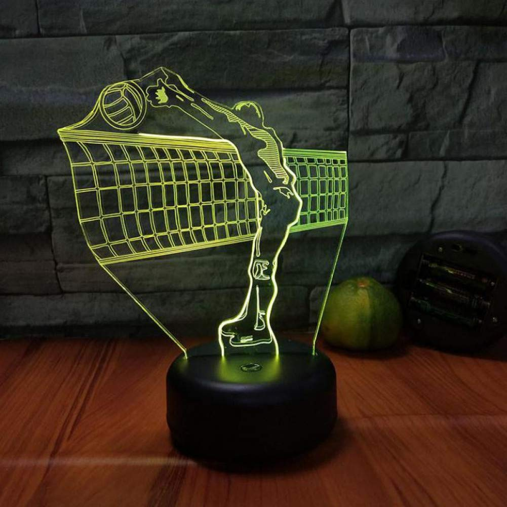 Amazon.com: Aetd Volleyball 3D Visual Light Creative 7 Color ...