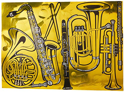 Gold Foil Musical Instrument Cutouts (15/Pkg) for $<!--$9.91-->