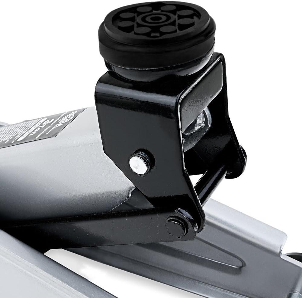 Set Cric hydraulique 3 tonnes Patin en caoutchouc anti-rayures set compact et robuste Lev/ée de 135 /à 400 mm