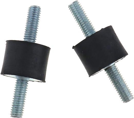 Micro Trader 4Pcs M6 MF Rubber Shock Anti Vibration Isolator Mounts Bobbins Thread Screw