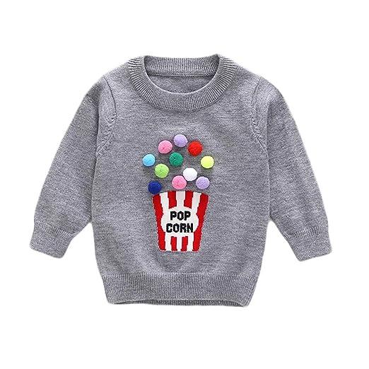 5753405dd Amazon.com  Birdfly 18M-4T Infant Toddler Baby Kid Girl Popcorn ...