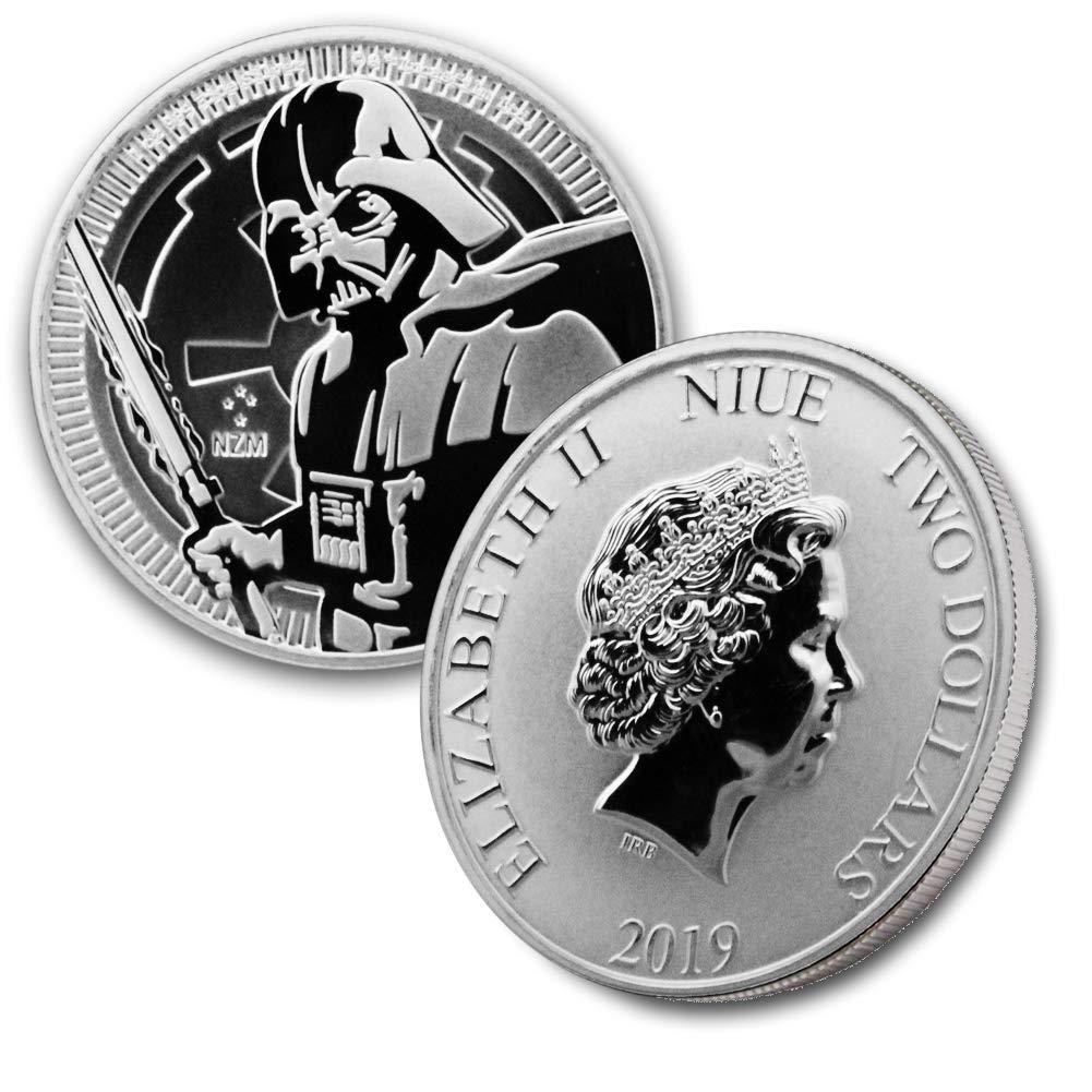 2019 NU 1 oz Silver Star Wars Darth Vader $2 Brilliant Uncirculated