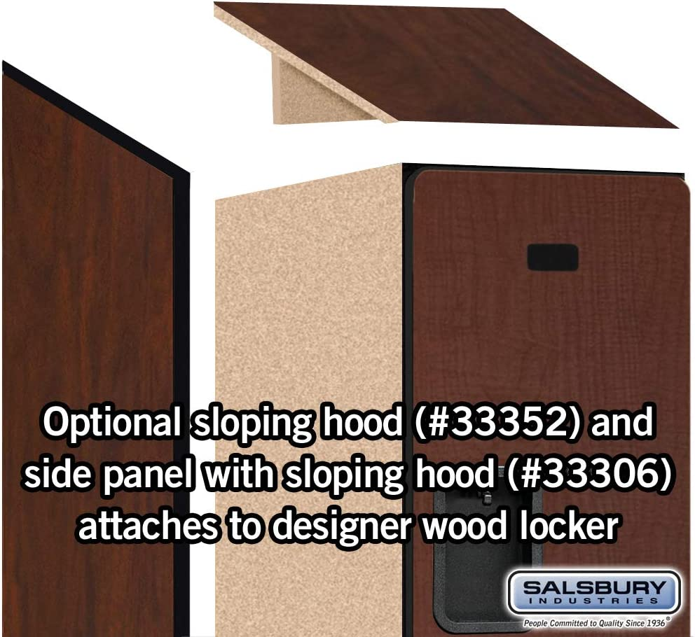 6-Feet High by 21-Inch Deep Mahogany Salsbury Industries 2-Tier Designer Wood Locker with One Wide Storage Unit
