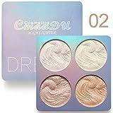 Highlighter Palette,Cmaadu Highlighter Makeup Palette, Glow Bronzer Highlighter Powder Kit (2) (Color: 2)